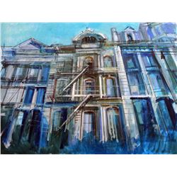 Alex Zwarenstein  Soho Iron Flats  Giclee on Canvas