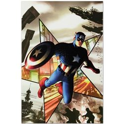 "Marvel Comics ""Captain America #1"" Numbered Limited Edition Giclee on Canvas by Steve McNiven with C"