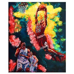 "Dimitry Turchinsky- Mixed Media ""Michael Jordan Dunks"""