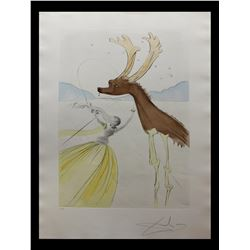"Salvador Dali- Original Etching with Color by Stencil ""Naphtali"""