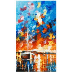 "Leonid Afremov (1955-2019) ""Night Comes"" Limited Edition Giclee on Canvas, Numbered and Signed. This"