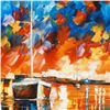 """Image 2 : Leonid Afremov (1955-2019) """"Night Comes"""" Limited Edition Giclee on Canvas, Numbered and Signed. This"""
