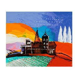 "Calman Shemi, ""Tuscany Hill"" Limited Edition Serigraph, Numbered and Hand Signed with Letter of Auth"