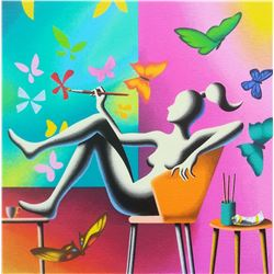 "Mark Kostabi ""Flight of Fantasy"" Original Serigraph"