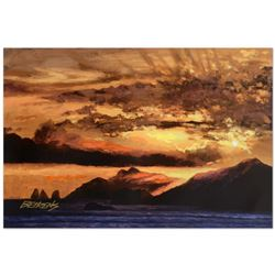 Howard Behrens (1933-2014),  Sunset Over Capri  Limited Edition Hand Embellished Giclee on Canvas, N