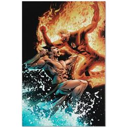 "Marvel Comics ""Ultimate Fantastic Four #26"" Numbered Limited Edition Giclee on Canvas by Greg Land w"