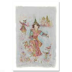Thai Dancers  Limited Edition Lithograph by Edna Hibel (1917-2014), Numbered and Hand Signed with C
