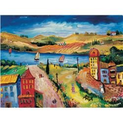 "Oleg Nikulov- Original Giclee on Canvas ""River View"""