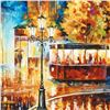 "Image 2 : Leonid Afremov (1955-2019) ""Night Trolley"" Limited Edition Giclee on Canvas, Numbered and Signed. Th"