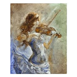 "Lena Sotskova, ""Enchanted"" Hand Signed, Artist Embellished Limited Edition Giclee on Canvas with COA"