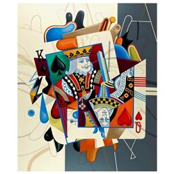 Yankel Ginzburg,  Royalty (King/Queen)  Hand Signed Limited Edition Serigraph with Letter of Authent