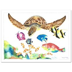 Something Fishee  Limited Edition Giclee on Canvas (41  x 29.5 ) by Wyland, Numbered and Hand Signe