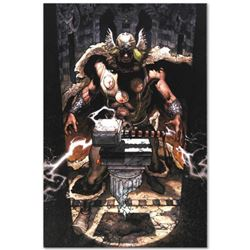 "Marvel Comics ""Thor: For Asgard #6"" Numbered Limited Edition Giclee on Canvas by Simone Bianchi with"
