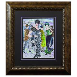 "Patricia Govezensky- Original Watercolor ""La Rambla Café"""