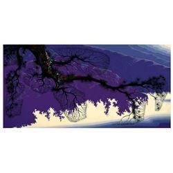 "Eyvind Earle (1916-2000), ""Purple Coastline"" Limited Edition Serigraph on Paper; Numbered & Hand Sig"