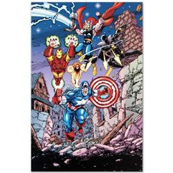"Marvel Comics ""Avengers #21"" Numbered Limited Edition Giclee on Canvas by George Perez with COA."