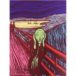 "Andy Warhol- Silk Screen ""Munch's 'The Scream' - Green"""