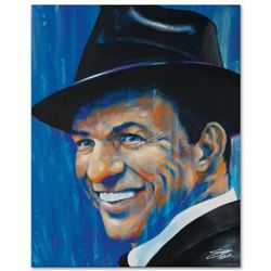 """Old Blue Eyes"" Limited Edition Giclee on Canvas by Stephen Fishwick, Numbered and Signed. This piec"