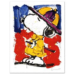 """Prada Puss"" Limited Edition Hand Pulled Original Lithograph by Renowned Charles Schulz Protege, Tom"