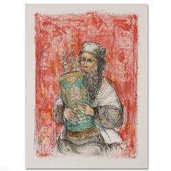 Israeli Rabbi  Limited Edition Lithograph by Edna Hibel (1917-2014), Numbered and Hand Signed with