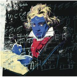 "Andy Warhol- Screenprint in colors """"Beethoven 390"" 1987"""