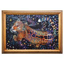 Vera V. Goncharenko- Original Giclee on Canvas  Strong Tiger