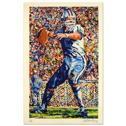 "Paul Blaine Henrie (1932-1999), ""Roger Staubach"" Limited Edition Serigraph, Numbered and Hand Signed"