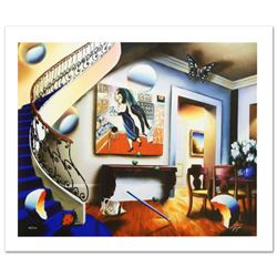 Dining with Chaggall  Limited Edition Giclee on Canvas by Ferjo, Numbered and Hand Signed by the Ar