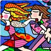 "Image 2 : Romero Britto ""New Love Blossoms"" Hand Signed Giclee on Canvas; Authenticated"