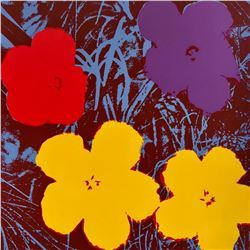 Andy Warhol- Silk Screen  Flowers 11.71