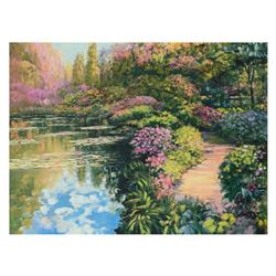 "Howard Behrens (1933-2014), ""Giverny Path"" Limited Edition on Canvas, Numbered and Signed with COA."