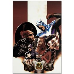 "Marvel Comics ""Captain America #42"" Numbered Limited Edition Giclee on Canvas by Steve Epting with C"