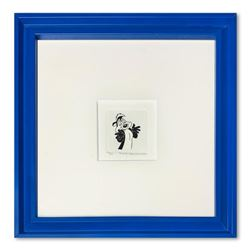 Pepe le Pew  Framed Limited Edition Etching with Hand-Tinted Color and Numbered.