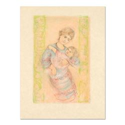 Edna Hibel (1917-2014),  Fair Alice and Baby  Limited Edition Lithograph on Rice Paper, Numbered and
