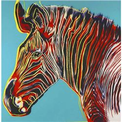 "Andy Warhol- Screenprint in colors ""Grevy's Zebra"""