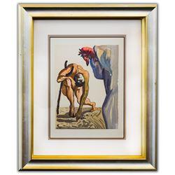 "Salvador Dali- Original Color Woodcut on B.F.K. Rives Paper ""Purgatory 7"""