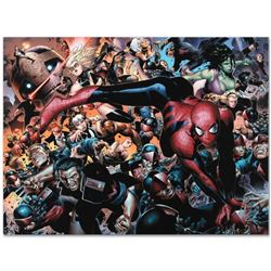 "Marvel Comics ""New Avengers #45"" Numbered Limited Edition Giclee on Canvas by Jim Cheung with COA."
