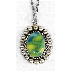 Mexican Sterling Pendant Necklace