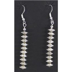 Native American Navajo Sterling Bead Earrings