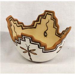Zuni Pottery Kiva Bowl by Timothy Peywa