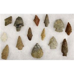 Collection of Prehistoric Stone Arrowheads
