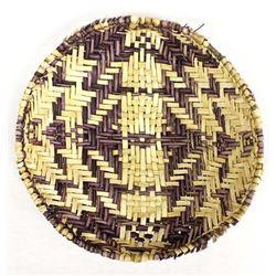 Hopi Purple and Beige Turtle Basket