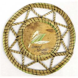 Iroquois Quilled Birch Bark Basketry Tray
