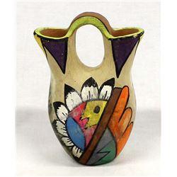 Vintage Tesuque Pottery Wedding Vase