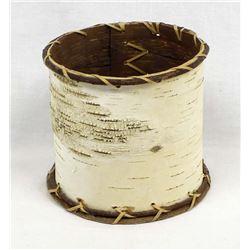 Native American Birch Bark Cylindrical Basket