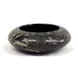 Santa Clara Carved Pottery Bowl by Gwen Tafoya