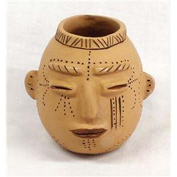 Cherokee Pottery Effigy Jar by Victoria Mitchell