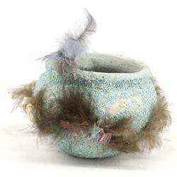 Zuni Turquoise Encrusted Pottery Fetish Kiva Bowl