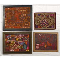 4 Panama Kuna Indian Textile Molas