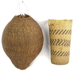 2 Historic Native American Paiute Baskets